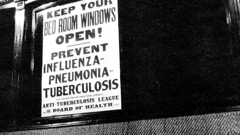 Campaña de prevención por la gripe española.