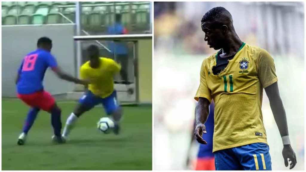 Vinicius, con la selección Sub20 contra Colombia