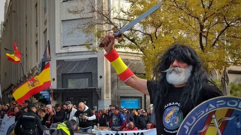Imagen de archivo de una manifestación de Jusapol.