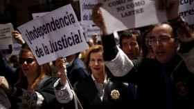 Última jornada de huelga de jueces y fiscales, 22 de mayo de 2018.
