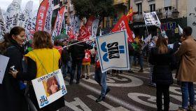 Manifestación de los funcionarios de Justicia en Madrid.