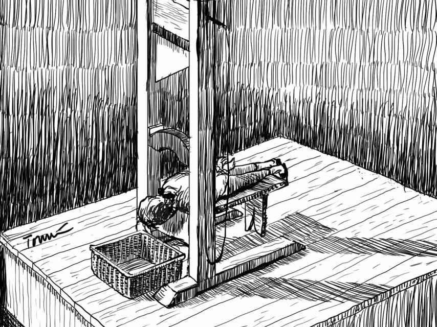 Brissot, en la guillotina.