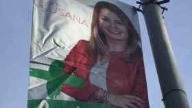 Susana Díaz relega al PSOE en sus carteles electorales