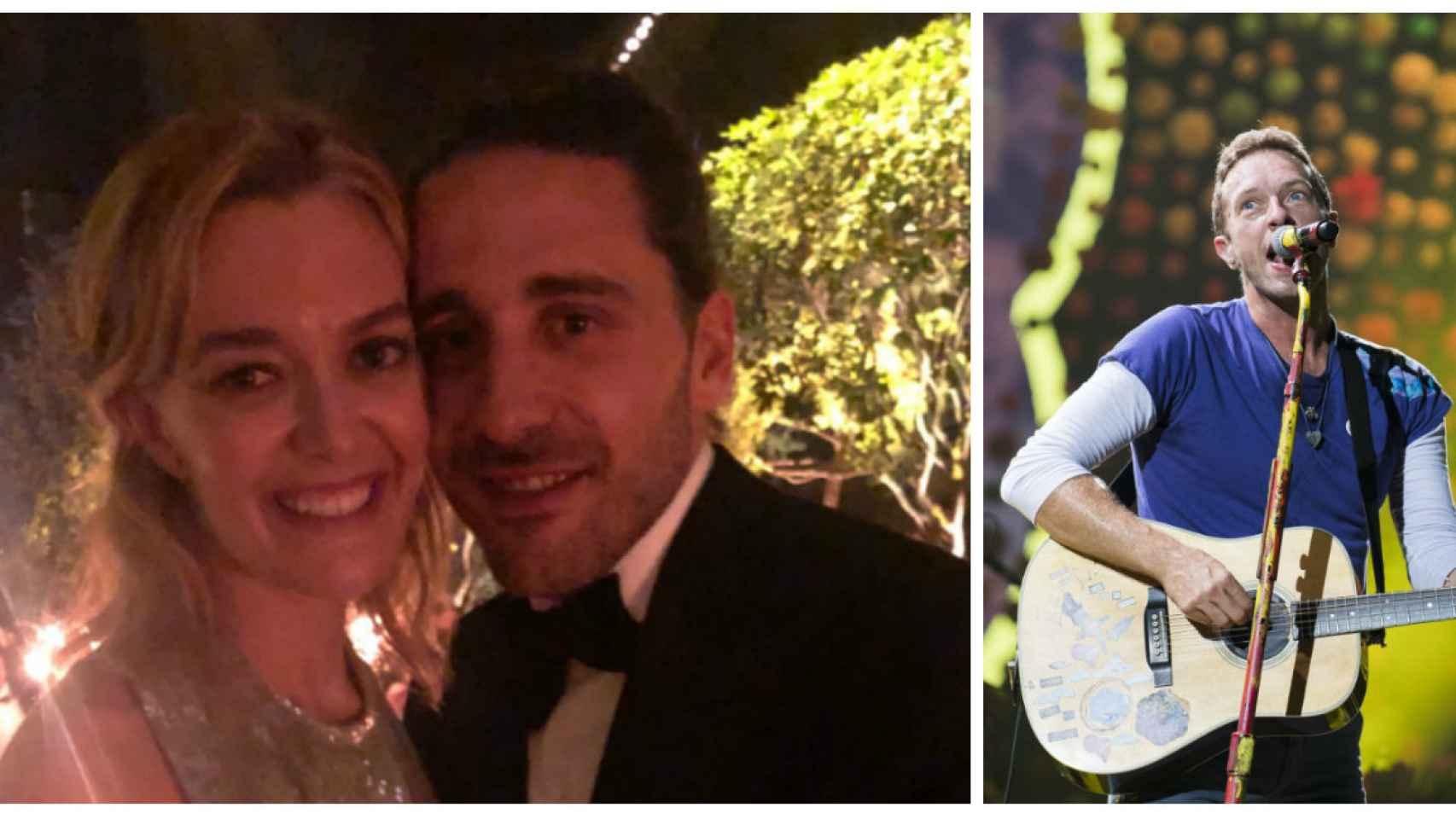 Marta Ortega y Carlos Torretta junto a Coldplay en montaje JALEOS.