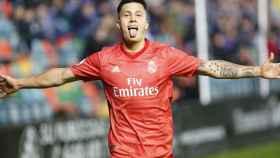 Cristo celebra un gol en El Helmántico. Foto: Manu Laya / El Bernabéu