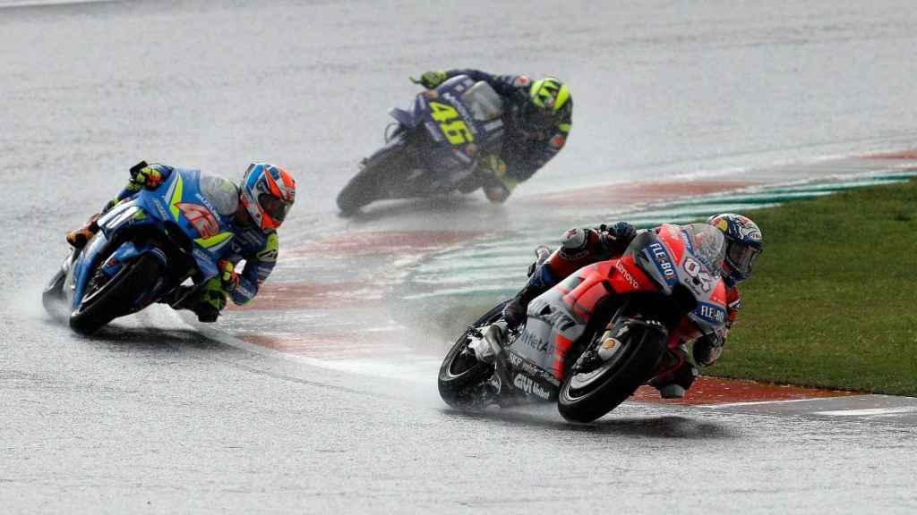 Un entrenamiento de Moto GP.