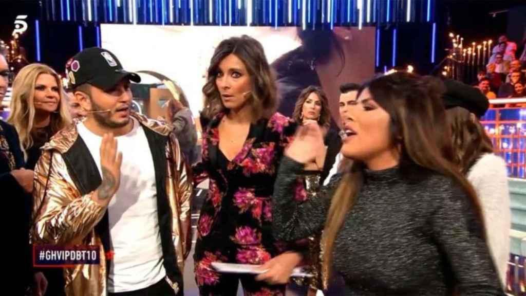 Chabelita Pantoja y Omar Montes en el debate de 'GH VIP'