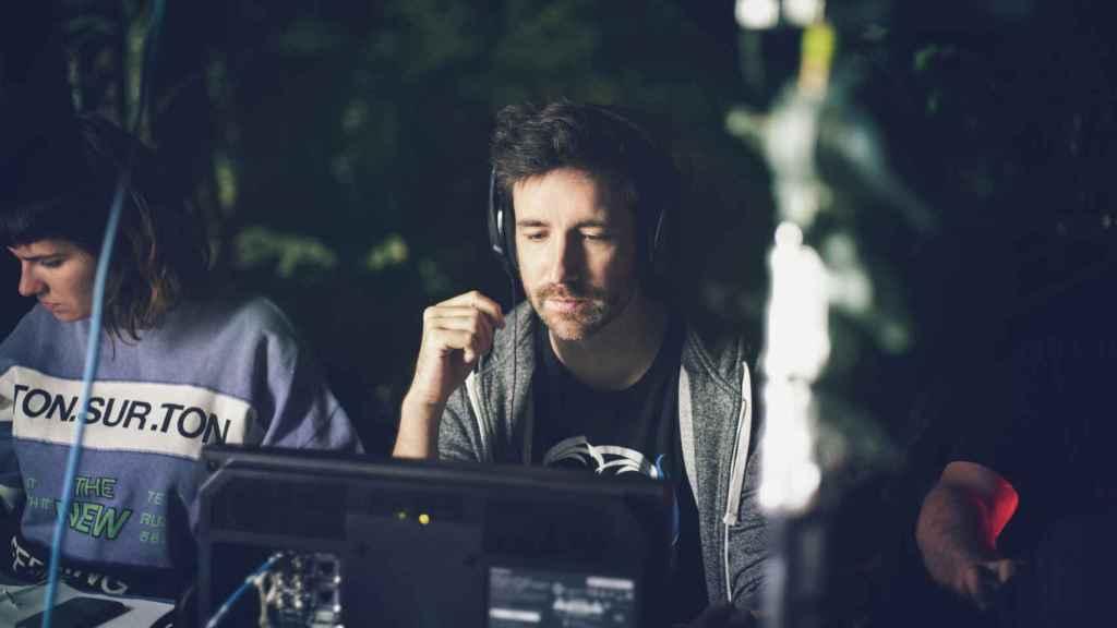 El director David Velduque en el rodaje.