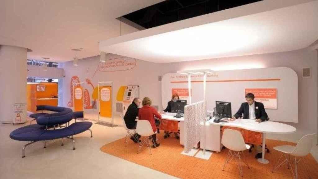 Imagen de una oficina bancaria en una imagen de archivo.
