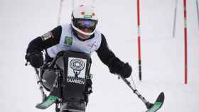 Teresa Silva haciendo esquí.