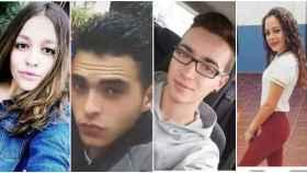 Lucía, Sebastián, Lorenzo y María del Mar fallecieron este martes en la carretera.
