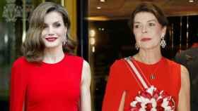 La reina Letizia y Carolina de Mónaco con el mismo vestido.
