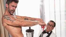 Alonso Caparrós y Torito en la sesión de fotos de 'Primera Línea'