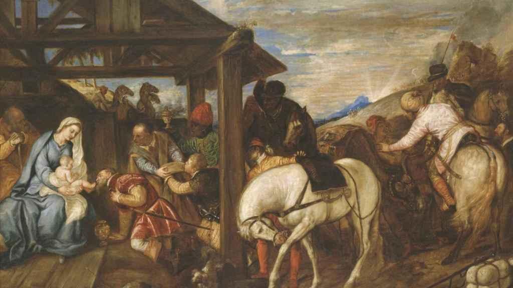 'Adoración de los Reyes Magos', un lienzo de Tiziano.