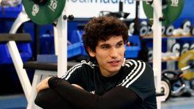 Vallejo se ejercita en el gimnasio de la Ciudad Real Madrid