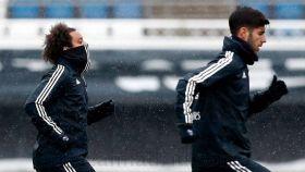 Marcelo y Asensio se entrenan en Valdebebas