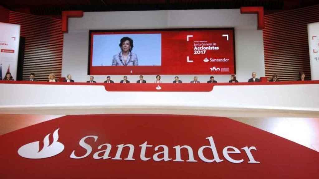Junta General de Accionistas del Santander.