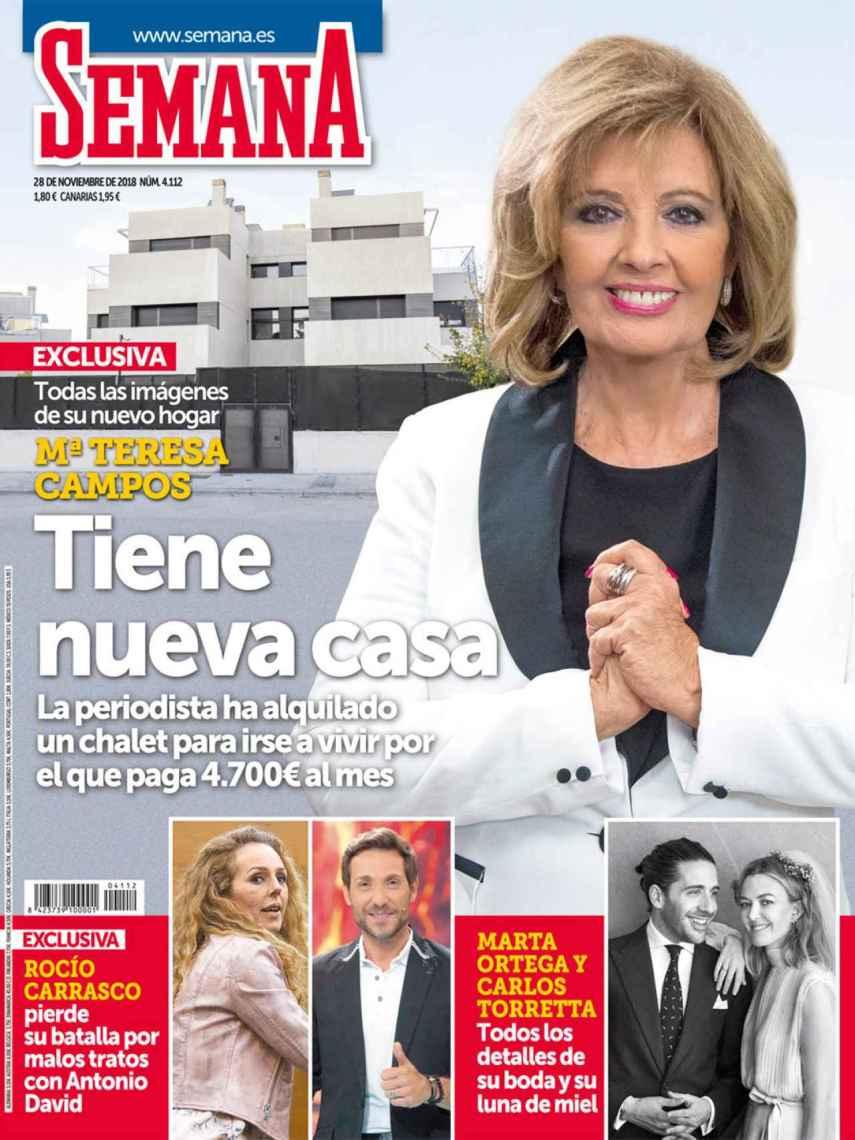 María Teresa, en la portada de 'SEMANA'.
