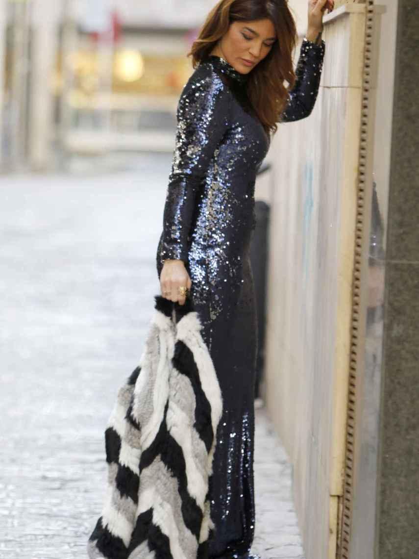 Raquel Bollo durante una sesión fotográfica en Sevilla.