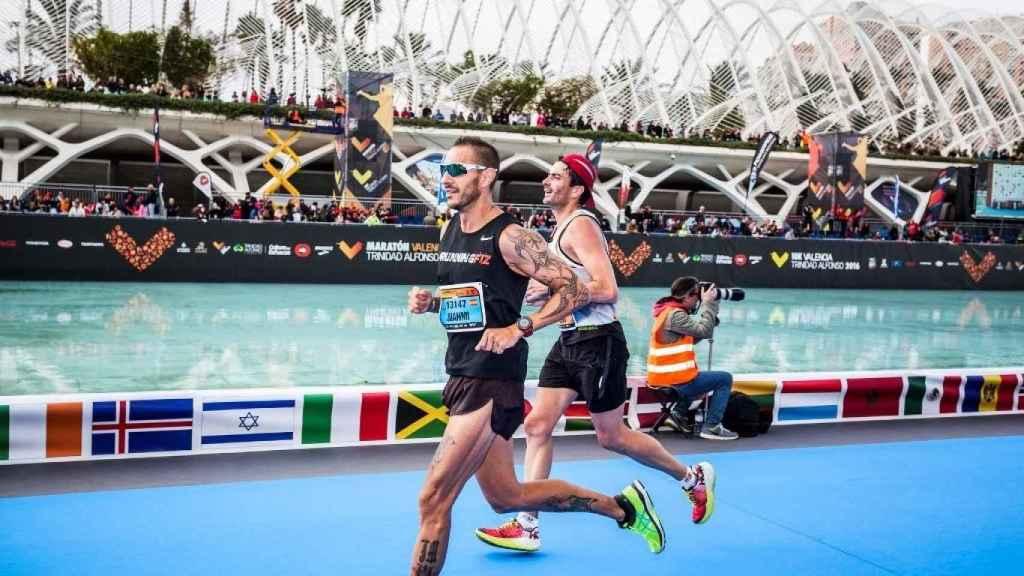 Juan Miguel, en una maratón en Valencia.