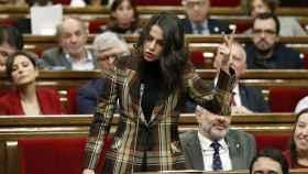 Arrimadas durante la sesión de control al Gobierno de la Generalitat