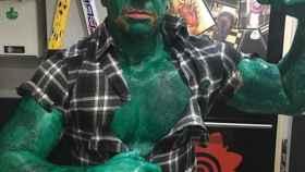 Matteo, el presunto agresor, disfrazado del superhéroe Hulk.