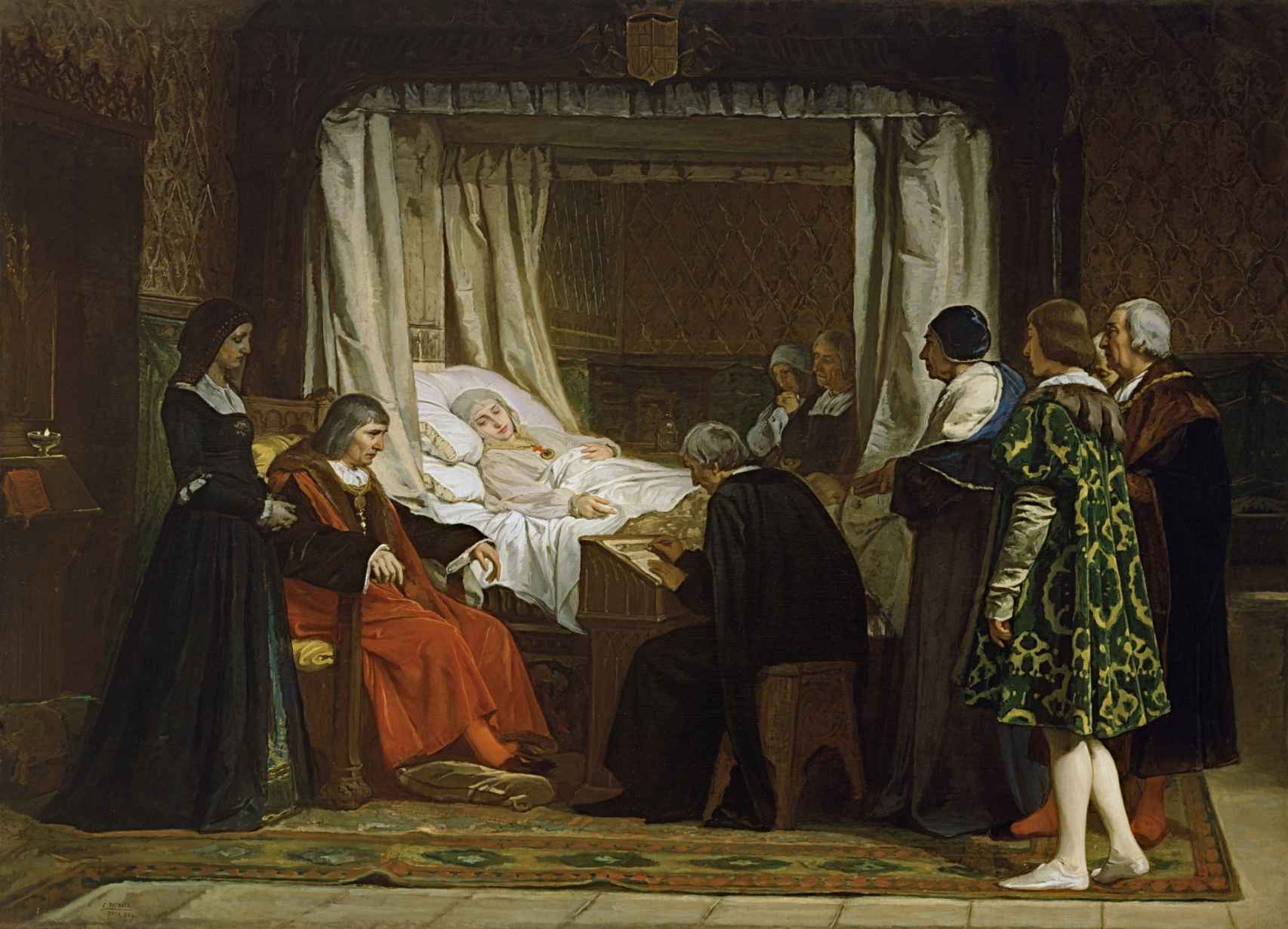 'Doña Isabel la Católica dictando su testamento', de Eduardo Rosales.