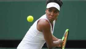 Venus Williams, en un partido en Wimbledon.