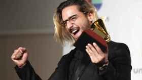 Maluma, durante los Grammy Latinos.
