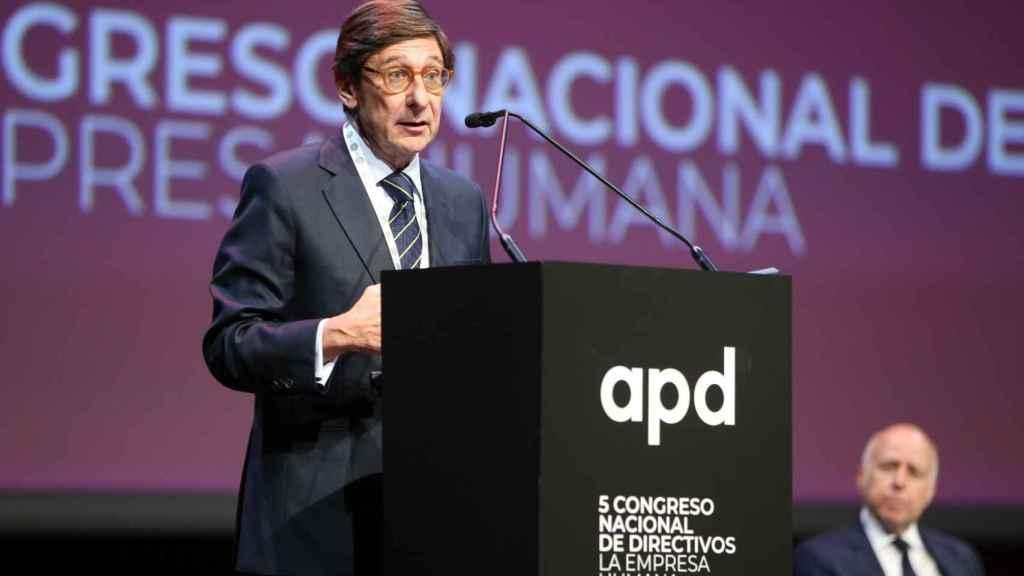 José Ignacio Goirigolzarri, presidente de Bankia, durante su ponencia en el V congreso nacional de directivos de la APD.