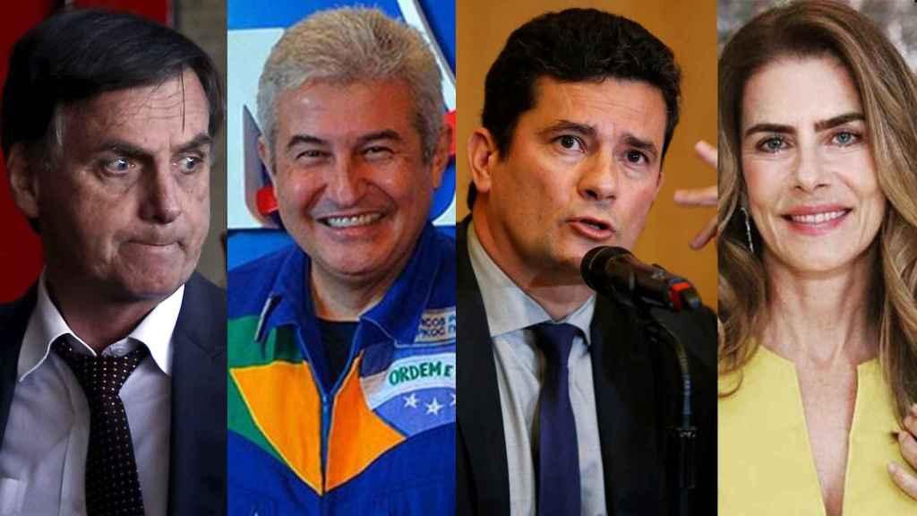 Bolsonaro con sus fichajes para el nuevo Gobierno brasileño