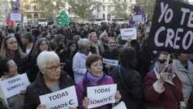 Manifestación en apoyo de la víctima de La Manada.