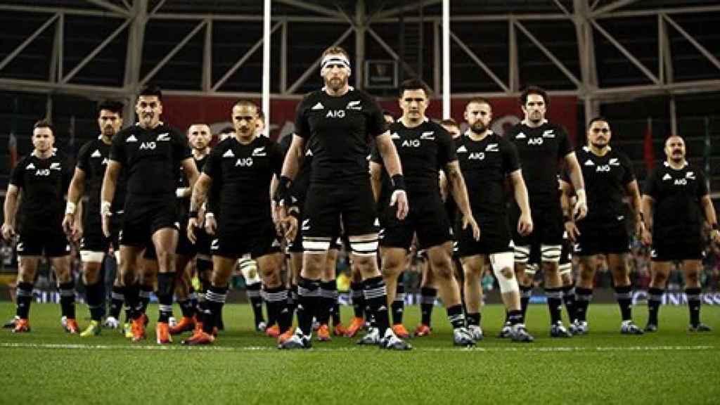 Los jugadores de la Selección neozelandesa de Rugby. Foto: Twitter (@AllBlacks)