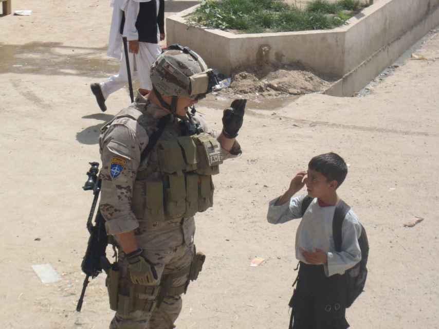 El sargento Kouiche, en Afganistán.