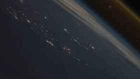 Nave espacial despegando