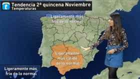 Las diferentes tendencias meteorológicas según la zona. Eltiempo.es