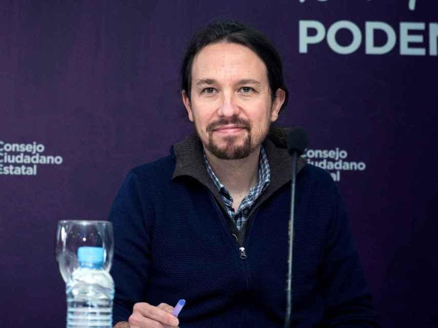 Pablo Iglesias, en el Consejo Ciudadano Estatal (CCE) de Podemos.