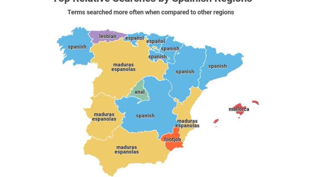 Ancianas, El Niño Polla y pajas con los pies: así es el pornomapa de España