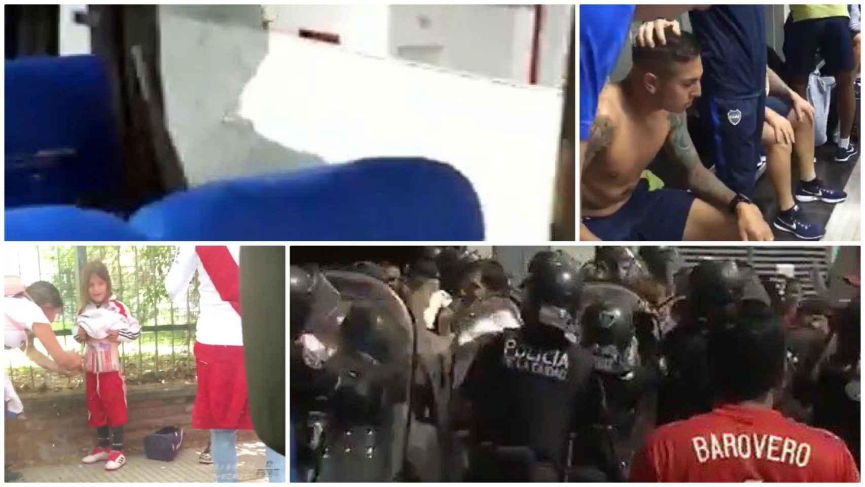 Caos en la Libertadores: las bochornosas imágenes del superclásico entre River y Boca