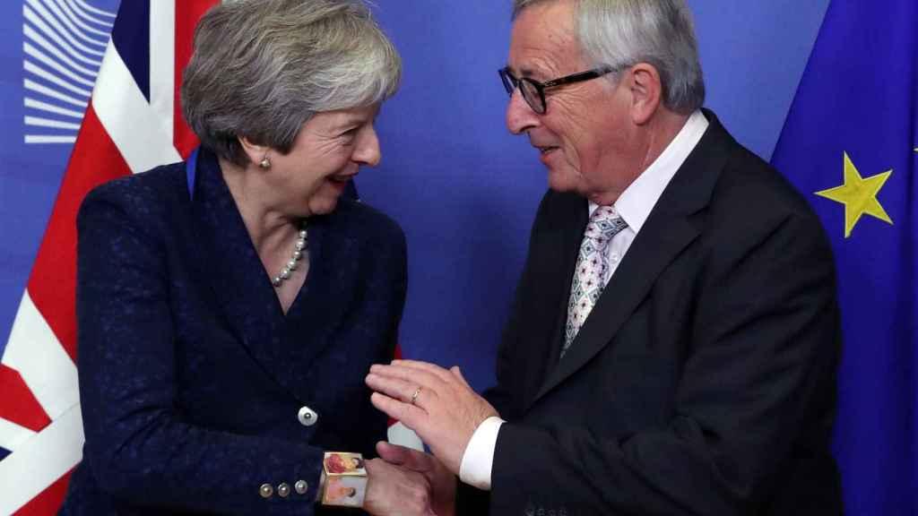 May y Juncker han cerrado en Bruselas los últimos flecos del divorcio