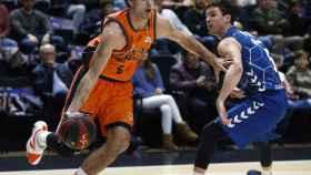 Valencia Basket contra Delteco GBC. Foto: Twitter (@valenciabasket)