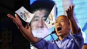 El candidato a la alcaldía por el KMT, Han Kuo-yu