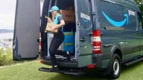 Furgoneta de reparto de Amazon Logistics en una imagen de archivo.