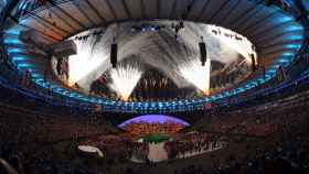 El estadio de Maracaná durante la ceremonia inaugural de los Juegos Olímpicos de Río 2016