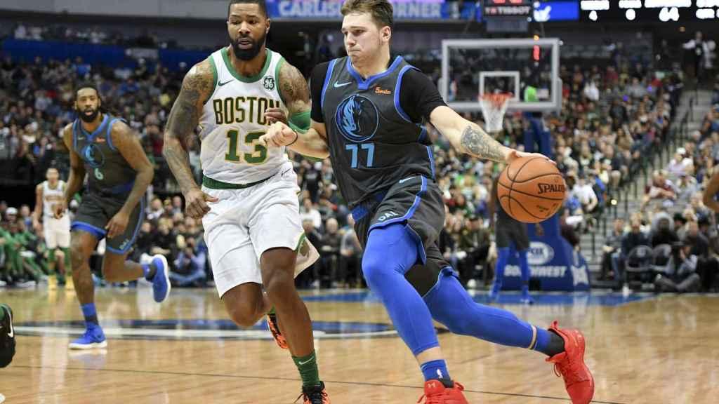 Doncic, durante el Dallas Mavericks - Boston Celtics
