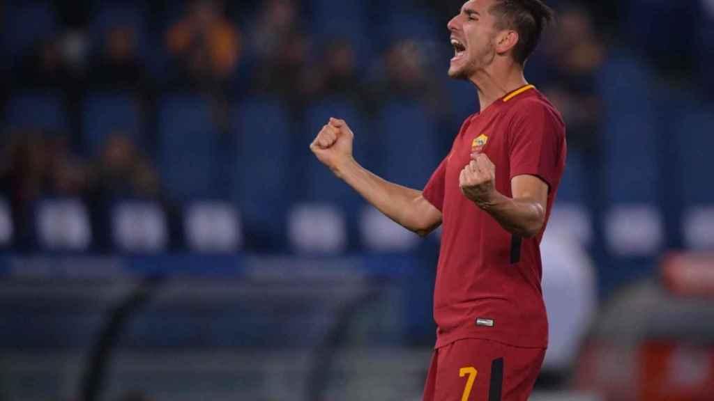 Pellegrini, durante un partido de la Roma. Foto: asroma.com