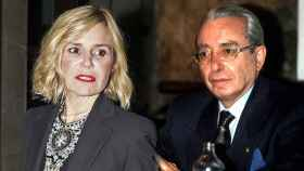 Eugenia Martínez de Irujo en un montaje junto a Jesús Aguirre.