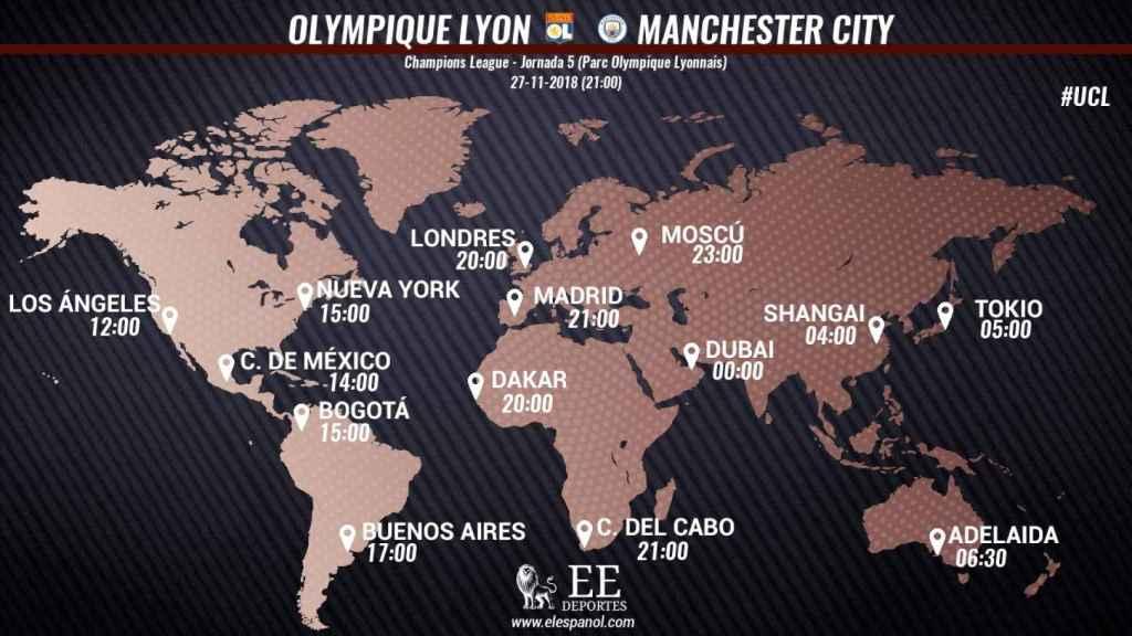 Horario Lyon City