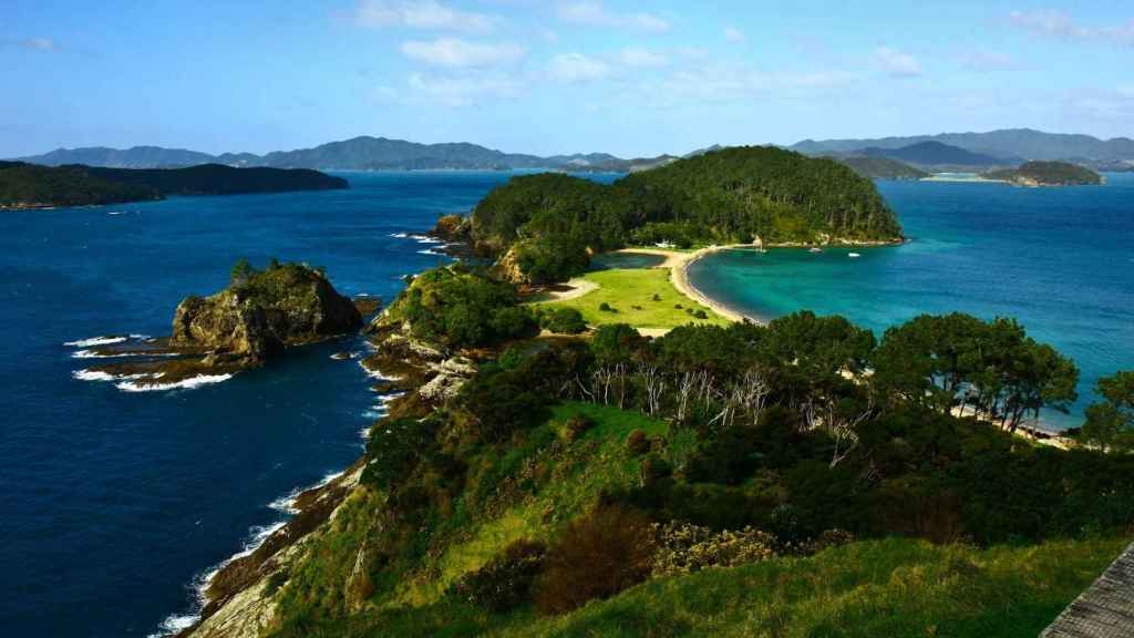 Vista aerea de la Bahía de las Islas del Norte