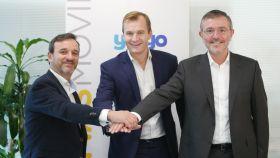 De Izquierda a derecha: Pablo López, Meinrad Spenger y Vicente Casciaro.